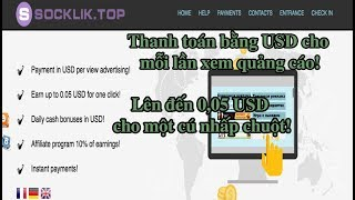 Web xem quảng cáo kiếm $, nhận 0.05$ cho một lần click hoàn toàn miễn phí