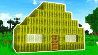 TURNING MINECRAFT PLAYERS HOUSES INTO FOOD!