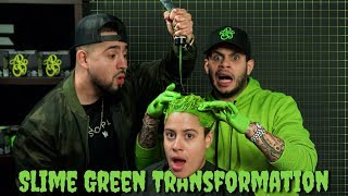 Slime Green Hair Transformation