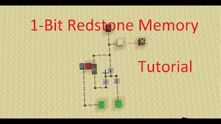 1-Bit Redstone Memory in Minecraft - Tutorial