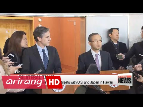 S. Korea discusses N. Korea threat at bilateral talks with U.S. and Japan