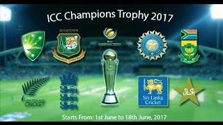 ICC Champions Trophy 2017 Schedule