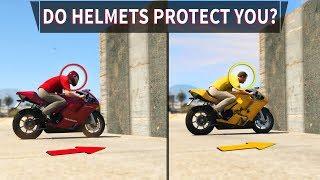 GTA V - Do Helmets protect you?