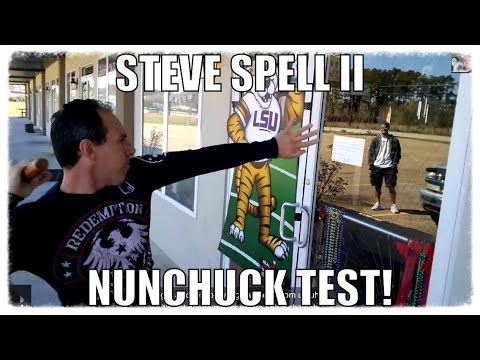 Man Puts the Ninja Test on Indestructible Glass With Nunchucks!