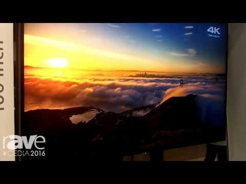 CEDIA 2016: Sony Demos XBR-75Z9D 100″ Class 4K HDR Ultra HD TV