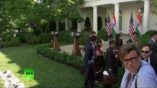 Trump and Modi give joint statement upon PM's White House visit (Streamed live)