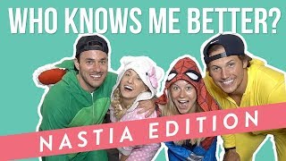 NASTIA LIUKIN WHO KNOWS ME BETTER CHALLENGE | Shawn Johnson + Andrew East