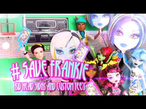 How to Make #SAVEFRANKIE Big Face Sign and Tee's   Plus Doll Review - Doll Crafts