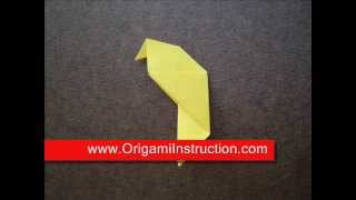 Origami Instructions Origami Parakeet