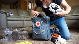 """PERSONAL ITEM ONLY PACKING LIST   what's in my bag   13"""" laptop Kanken   minimalist travel"""