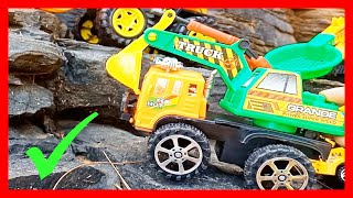 Building Street with Construction Vehicles Kids Toys for Children: Excavator, Crane, Police Car