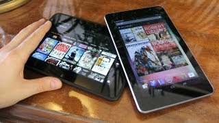 Nexus 7 vs Kindle Fire HD!