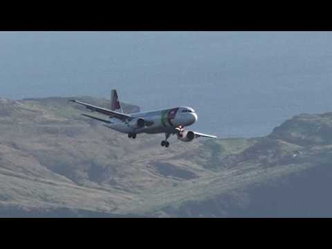 Aeroporto da Madeira Funchal Aterragem TAP Portugal Airbus landing Airport atterrissage Mad�re