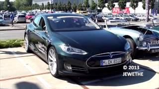 The New 2013 Tesla Model S Looks, Interior and FAST Acceleration!! 1080p Full HD