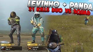 Levinho & Panda DOMINATING in PUBG MOBILE 31 KILLS
