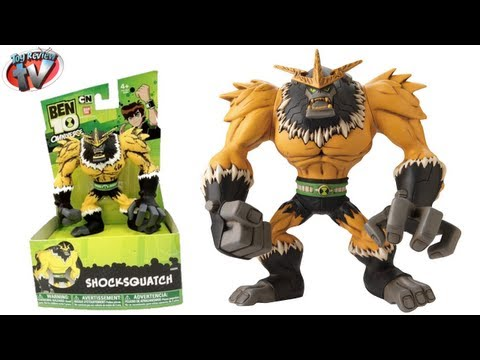 Ben 10 Omniverse Shocksquatch Hyper Alien Action Figure Toy Review, Bandai