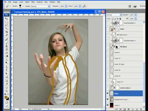Photoshop Painting Tutorials Photoshop Painting Tutorial