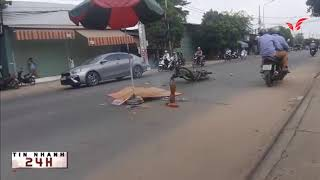 TPHCM, xe máy va chạm với xe tải trên đường Lê Văn Khương, 1 người tử vong