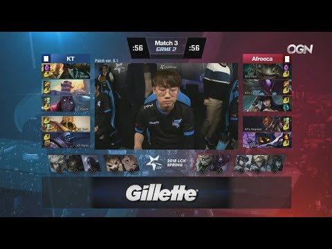 KT (Smeb Gangplank) VS AFS (Kiin Lucian Top) Game 2 Highlights - 2018 LCK Spring W1D2