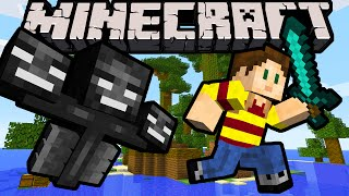 Minecraft Wither Island 1.8 Adventure Map Search for the Skulls, Undead Minions, Wither Boss Battle