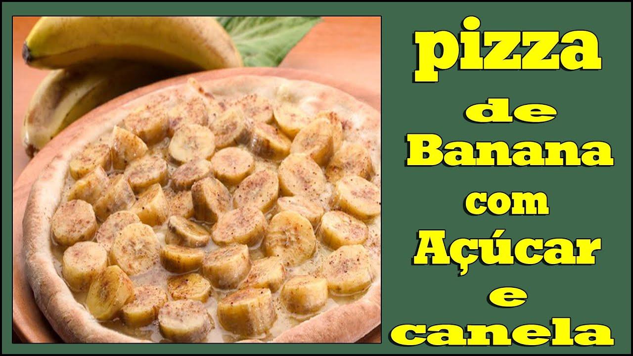 Pizza de Banana Com Canela Pizza de Banana Com Canela