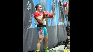 World championship WAKSC kettlebell sport Ivan Denisov long cycle 32 kg 98 reps in 10 minutes