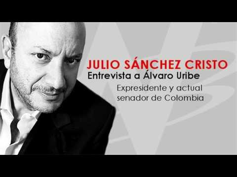 Julio Sánchez Cristo entrevista a Álvaro Uribe