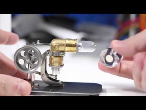 SunnyTech Mini Stirling Engine HA001. Demonstration and Review