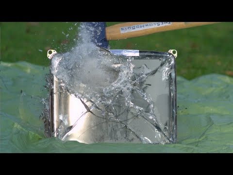 Sledgehammer vs TV tube in Slow Motion - The Slow Mo Guys