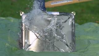 Sledgehammer vs TV tube in Slow Motion - The Slow Mo Guys