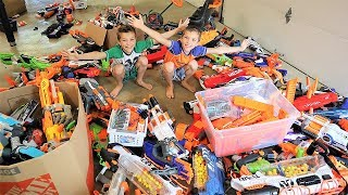 Nerf Battle:  Arsenal 2 (500 Nerf Blasters for The New Nerf Arsenal Wall)