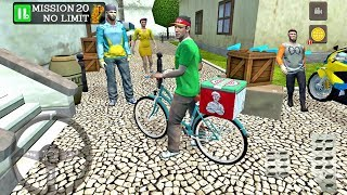 Pizza Delivery Driving Simulator #4 - Bike and Car Game Android gameplay