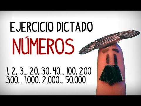 Ejercicio Dictado De Los Números En Español