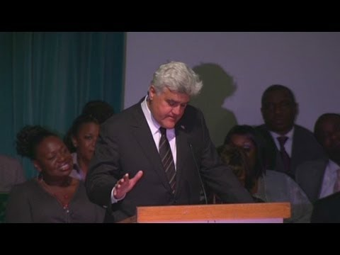 Jay Leno tears up over Michael Clarke Duncan memorial service