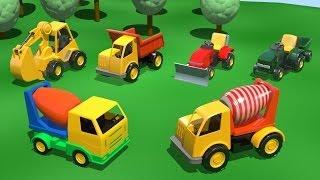 Мультфильмы про машинки - БЕТОНОМЕШАЛКА на Детской Площадке - развивающий мультик