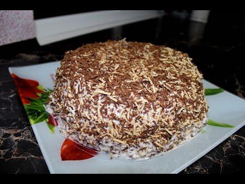 Самый простой и быстрый в приготовлении бисквитный торт.