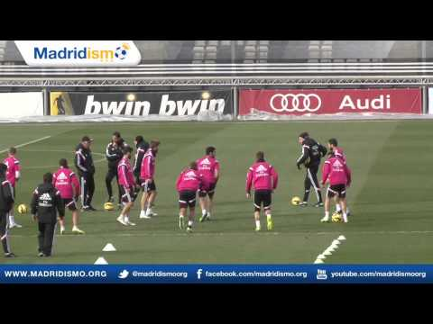Real Madrid training clips ahead of Real Sociedad in Liga