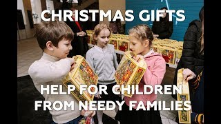 Christmas gifts for children from needy families