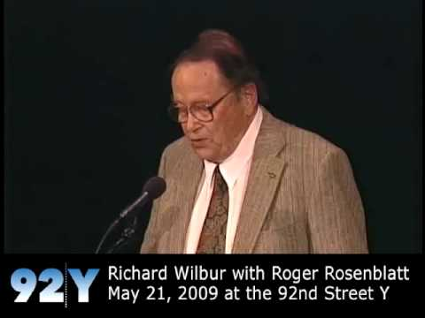 0 Richard Wilbur with Roger Rosenblatt at the 92nd Street Y
