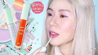 Etude House DEAR DARLING SODA TINTS // Review + Try On + Swatch // BR401 & BL601 (WONDER FUN PARK)