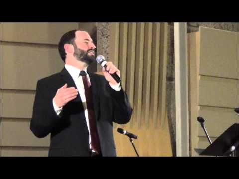 "Cantor Dan Gross Sings ""Luck Be a Lady"" at Adat Shalom Synagogue"