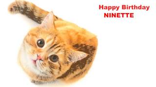 Ninette  Cats Gatos - Happy Birthday