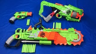 Nerf Zombie Strike Box of Toys Brainsaw Toy Guns