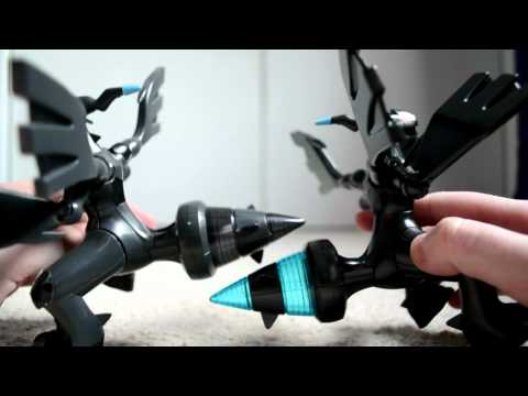 Pokemon Zekrom &amp; Victini Movie Version Plamo Figures Unboxing
