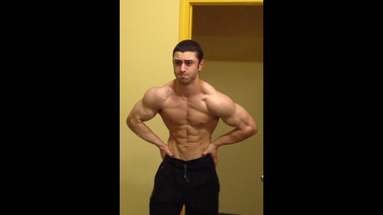 Shoulders and Teen Bodybuilder Posing Update 14 Weeks Out