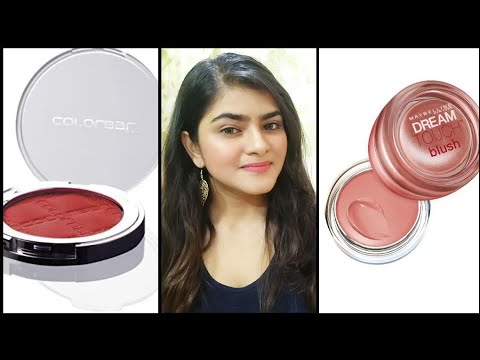 Blush for Indian skin | colorbar  and Maybelline blush | India | Hindi | Ria Das |