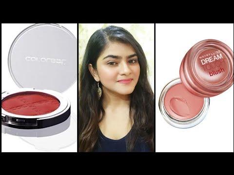 Blush for Indian skin | colorbar  and Maybelline blush | India | Hindi | Ria Das |