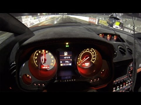 Lamborghini Gallardo LP570-4 Super Trofeo Stradale Launch Control Demonstration 1/4 Mile Drag Racing