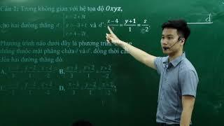 Các câu hỏi hay và khó của Hình Tọa Độ Không Gian Oxyz _ Thầy Nguyễn Quốc Chí
