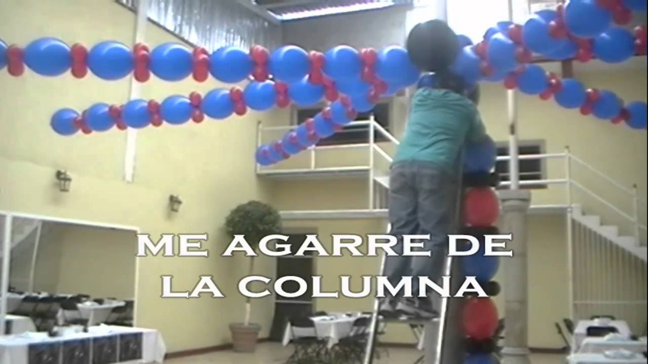 Curso decoracion con globos spiderman video 2 wmv youtube - Adornos para el salon de casa ...